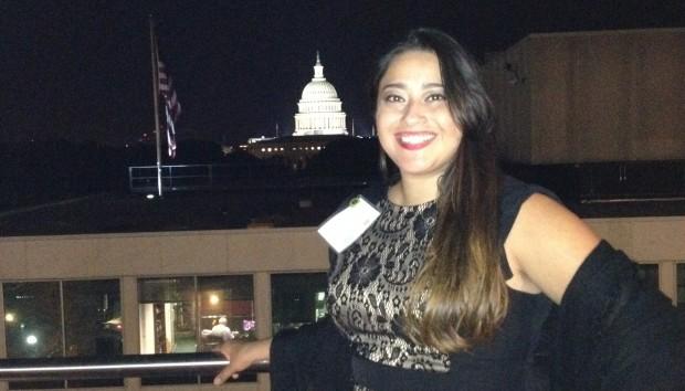 Rosalba Dominguez during her internship in Washington D.C.