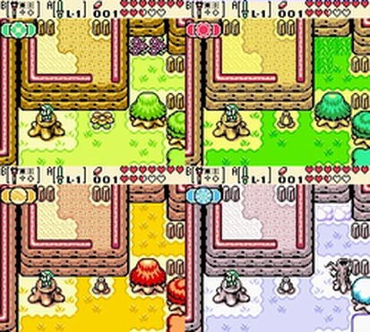 Screenshots from The Legend of Zelda: Oracle of Seasons