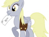 Derpy Hooves with a letter