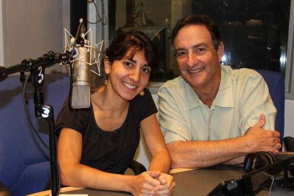 Flora Lichtman, correspondent and managing editor, with Ira Flatow host of Science Friday.