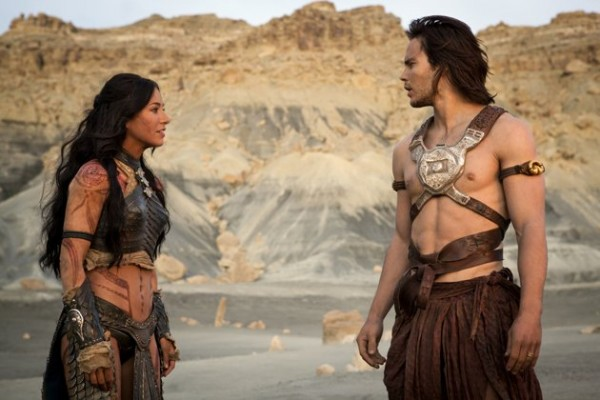 Lynn Collins and Taylor Kitsch in 'John Carter'