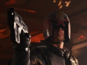 A movie still featuring Karl Urban as Judge Dredd