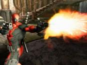 Deadpool character firing a set of pistols.