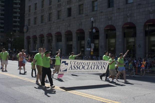 Utah Gay Fathers Association walking at the Utah Pride Festival