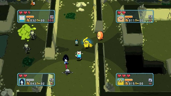 Adventure Time's dungeons change themes to change the experience.