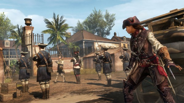 Main character Aveline de Grandpre ready to engage the enemy.