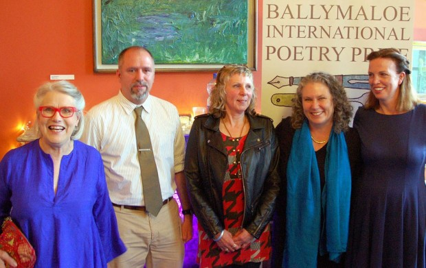 Lisa Bickmore with other Ballymaloe poets