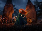 "Merida wields a sword in the Disney movie ""Brave"""