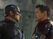 Chris Evans, left, and Robert Downey Jr.