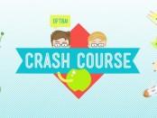The Crash Course logo, featuring cartoon version of John and Hank Green