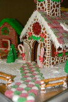 Candy road to gingerbread church