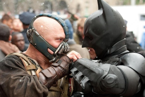 Bane and Batman face off