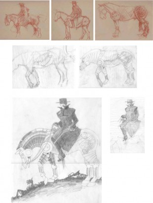Devil's Rider sketches