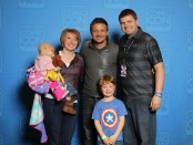 Jeremy Renner with the Reese family
