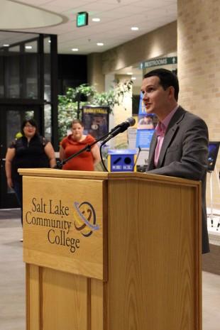 Brandon Alva at podium