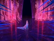 Frozen's locales, such as Elsa's ice palace, feature some very unique aesthetics. One of the film's strong points.