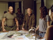 "Dwayne Johnson and Bruce Willis in a scene from ""G.I. Joe: Retaliation"""