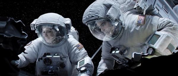 Sandra Bullock, left, and George Clooney