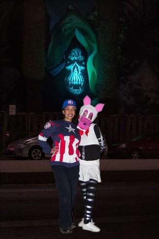 Quitze Garcia, left, and Jacey Hinnen in costume