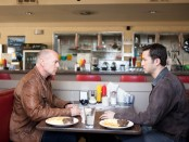 Joseph Gordon-Levitt and Bruce Willis in 'Looper'