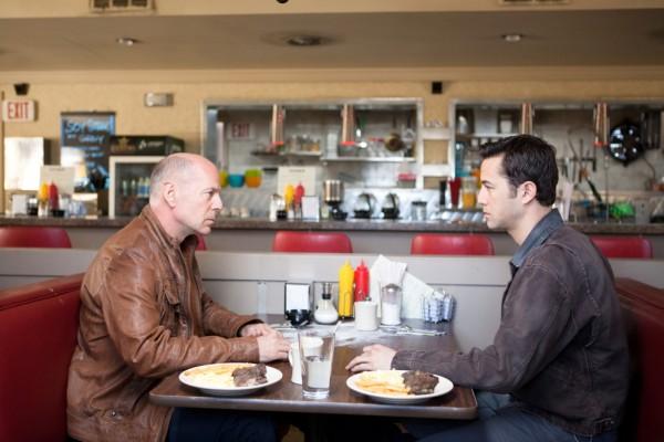 Joseph Gordon-Levitt and Bruce Willis in 'Looper'