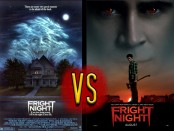 Monster Clash Fight Card featuring the theatrical posters of both the original Fright Night and the 2011 remake