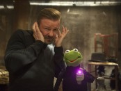 Dominic Badguy, left, and Constantine in 'Muppets Most Wanted'
