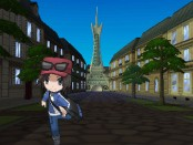The world is based on France and features a customize-able protagonist (pictured).