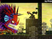 'Guacamelee!' is a platformer that features bright, stylized visuals.