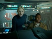 "Charlize Theron (left) and Idris Elba in ""Prometheus"""
