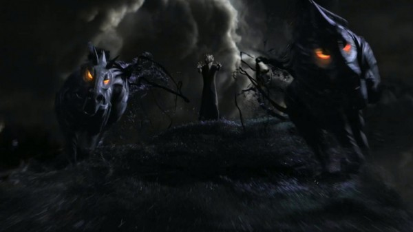 'Rise of the Guardians' movie still featuring Pitch and his Fearlings.