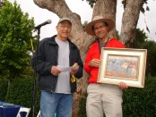 Rob Adamson, right, and Carmel Art Festival judge Ken Auster
