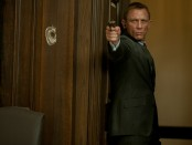 A movie still from Skyfall featuring Daniel Craig and Javier Bardem