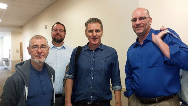 From left to right: Nick Burns, Josh Elstein, Peter Baxter and Jonny Olsen