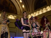 Four models show off SLCC student fashion designs
