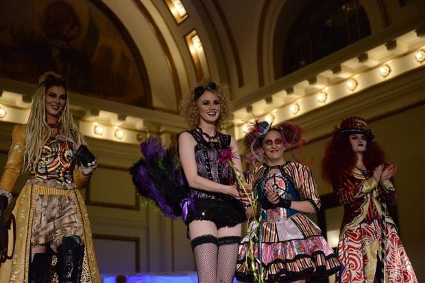 Four models show off SLCC student fashion designs