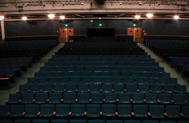 Empty seats in The Grand Theatre