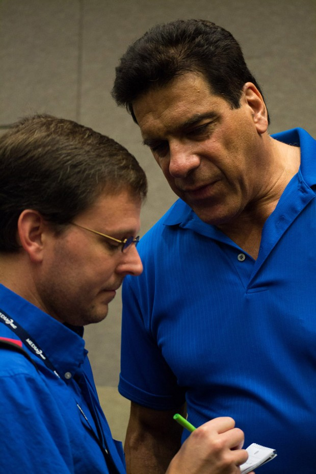 Shad Engkilterra, left, and Lou Ferrigno