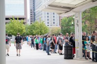Long line for Salt Lake Comic Con
