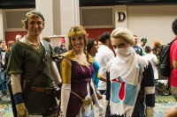 Left to right: Link, Zelda, Sheik