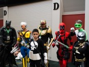 Comic Con attendees in costume