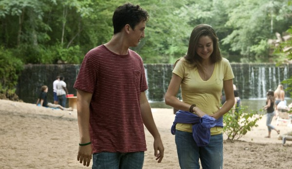 Still from The Spectacular Now featuring Miles Teller and Shailene Woodley