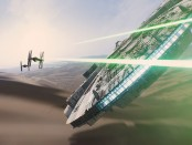Star Wars intergalactic battle scene