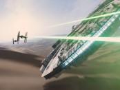 Star Wars intergalactic battle scene