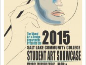 2015 SLCC student art showcase poster