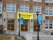 Grand Theatre Sundance banner over South City Campus west entrance