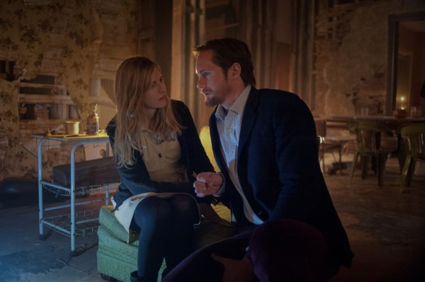 "Alexander Skarsgård, right, and Brit Marling in a scene from ""The East"""
