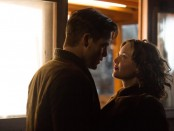 "Chris Pine, left, and Holliday Grainger in a scene from ""The Finest Hours"""