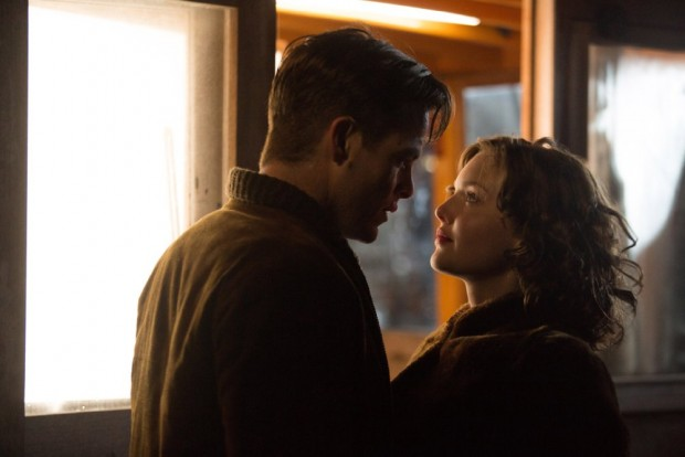 """Chris Pine, left, and Holliday Grainger in a scene from """"The Finest Hours"""""""