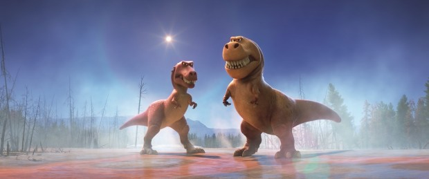 """T-Rexes Ramsey and Nash from """"The Good Dinosaur"""""""